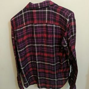 American Eagle Outfitters Tops - AE purple plaid shirt